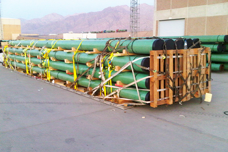 oversized pipe delivery in afghanistan