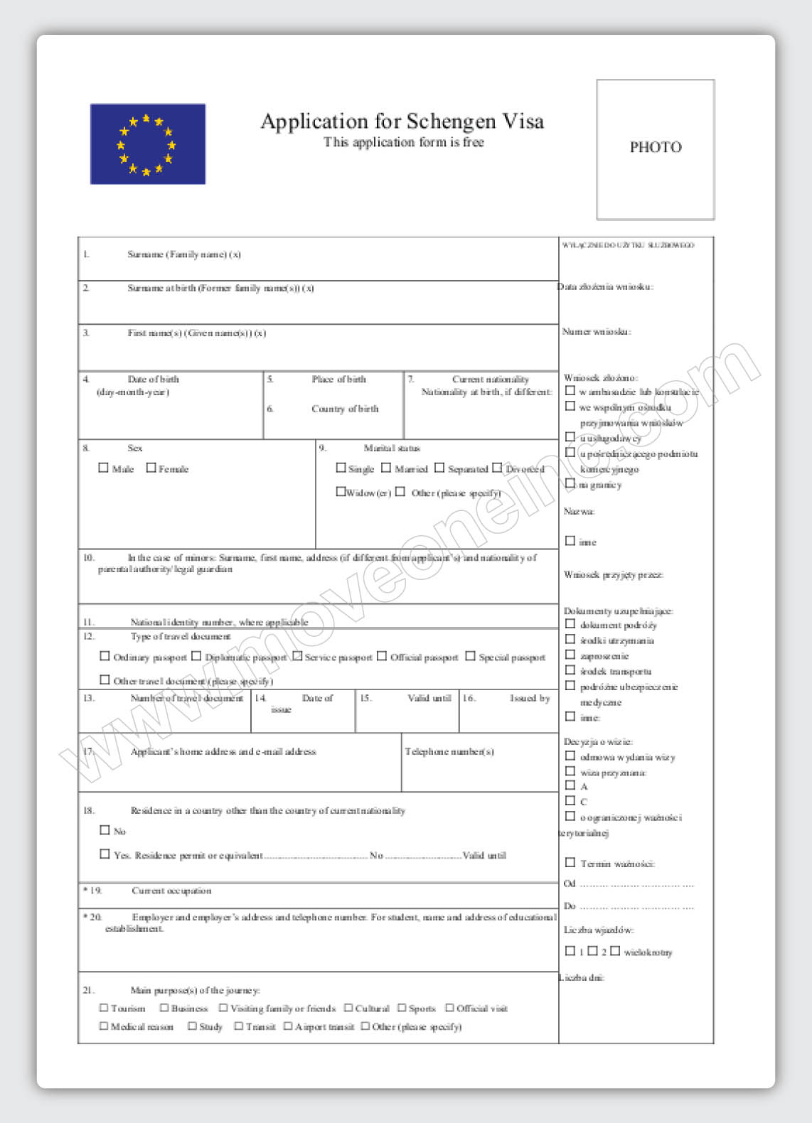 Immigrating to poland immigrating to warsaw country profiles schengen visa application form spiritdancerdesigns Gallery